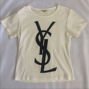 Authentic YSL Logo Tee Yves Saint Laurent Small